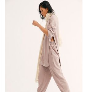 NEW free people Mercer set jogger two piece
